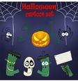 Halloween cartoon design elements vector image vector image