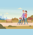 happy family mother and father with children love vector image