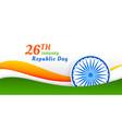 happy indian republic day banner design vector image