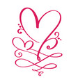 heart love sign forever for happy valentines day vector image