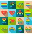 Homosexual icons set flat style vector image vector image
