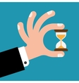 hourglass in hands vector image