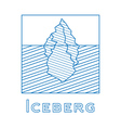 iceberg in linear style outline vector image