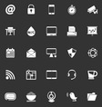 Internet cafe icons on gray background vector image vector image