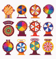 isolated on white wheel fortune flat set vector image vector image