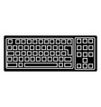 keyboard detailed icon black vector image vector image