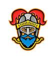 knight head front mascot vector image