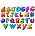 Letters of the alphabet vector image vector image