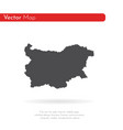 map bulgaria isolated black vector image vector image