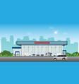 modern car dealership centre showroom building vector image vector image