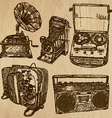 old objects no4 - hand drawn collection vector image vector image
