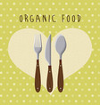 organic food menu design vector image