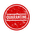 quarantine text with isolated white background vector image