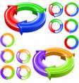round color arrows vector image