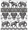 Seamless pattern with decorated elephants vector image vector image