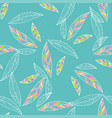 Seamless trendy pattern design withleafs