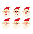 set of cute santa cartoon vector image