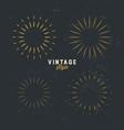 set vintage gold sunburst firework sparks vector image