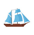 ship excursion icon flat style vector image