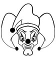 sketch draw jester face cartoon vector image