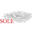 Sole word cloud concept