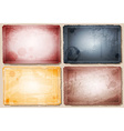 Stained Vintage Background Set vector image vector image