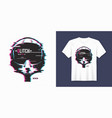 stylish t-shirt and apparel trendy design with vector image