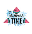 summer background with hand drawn slices of vector image vector image