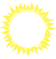 sun icon sunny bright circle shape with rays vector image vector image