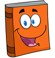 Text Book Cartoon Mascot Character vector image vector image