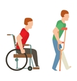 Trauma accident wheelchair safety people vector image