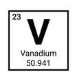 vanadium periodic table element icon vector image vector image