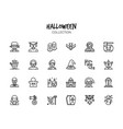 variety halloween icons set vector image vector image