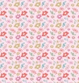 vintage flower seamless pattern vector image vector image
