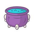 witch cauldron violet color icon brew potion vector image