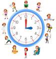woman activity on clock vector image