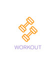 workout icon vector image