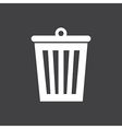 Bin Icon On Dark vector image