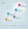 3d infographics diagram business vector image