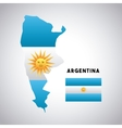 argentina country design vector image
