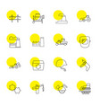 16 industrial icons vector image vector image