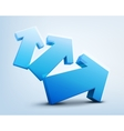 3d arrows logo design vector image vector image