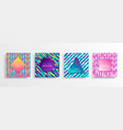abstract gradient background template design set vector image vector image