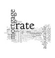 advantages and disadvantages adjustable rate vector image vector image