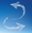 Arrow of clouds on a blue sky vector image vector image