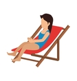 avatar woman wearing swimsuit vector image