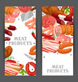 banners with meat products of vector image vector image