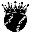 baseball ball in golden royal crown concept of vector image