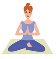 Beautiful woman practicing yoga namaste pose vector image vector image