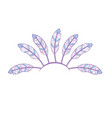 beauty diadem of feathers design decoration vector image vector image